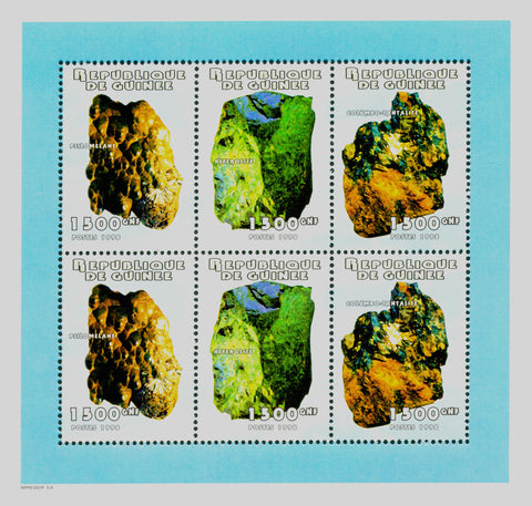 Minerals Nature Plant Block of 6 stamps Mint NH