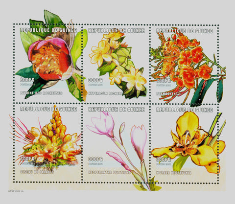 Flowers Block of 6 stamps Mint NH