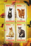 CATS SOUVENIR SHEET  of 4 Mint NH