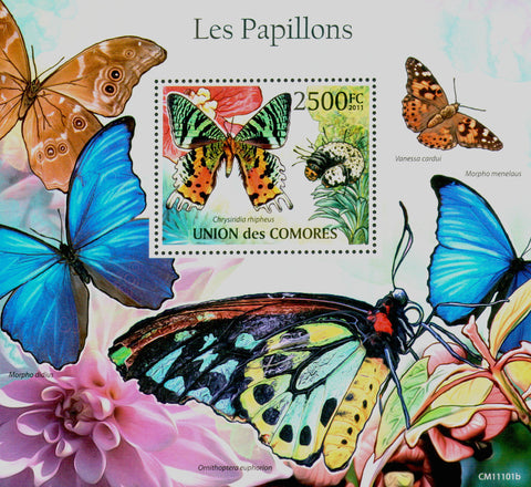 Butterflies Nature Insects Souvenir Sheet Mint NH