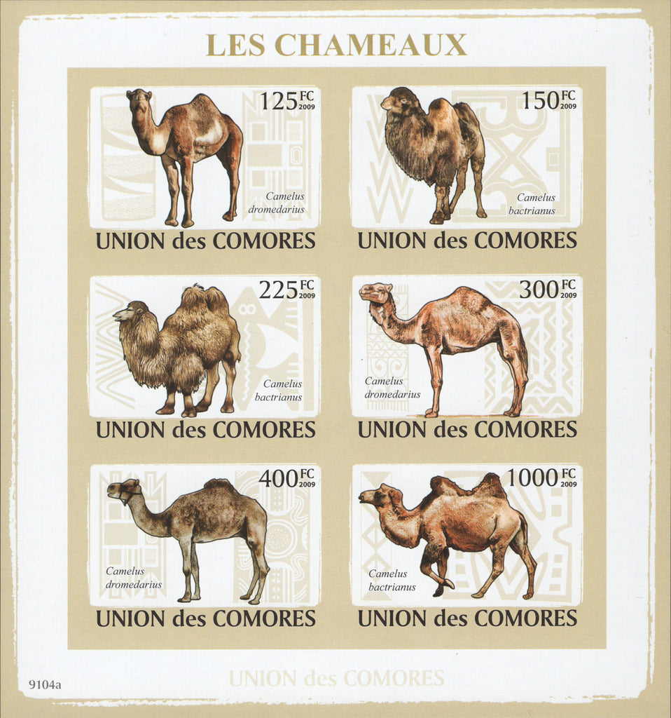 Camels Imperforated Block Souvenir of 6 stamps Mint NH