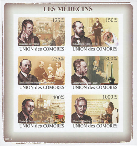 Medicine, Doctors, Science, famous people, Science, Imperforate Souveni
