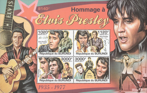 Elvis Presley Singer Artist Pop Star Actor Famous People Celebrities MNH