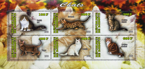 Domestic Cat Souvenir Sheet of 6 Stamps Mint NH