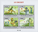 Cricket Sports Souvenir Sheet of 4 Stamps MNH