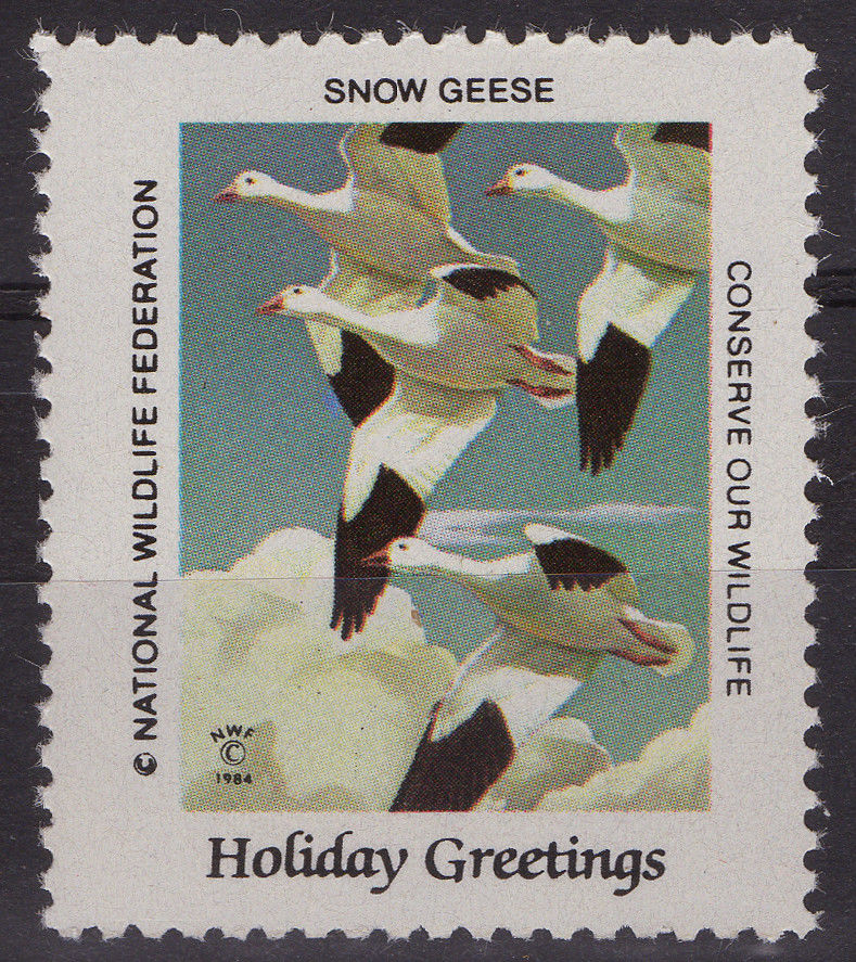 National Wildlife Federation Cinderellas 1984 Holidays Issue Snow Geese MNH