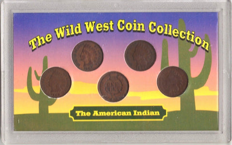Wild West Coin Collection The American Indian Set of 5 coins 1 cts