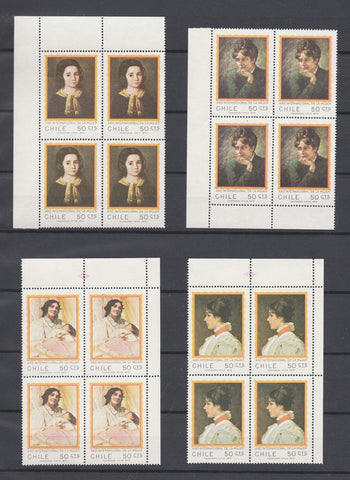 Chile Stamps 1975 International Women's Year Issue 4 Blocks of 4 MNH