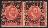 Chile Stamps 1904 Early Issue Valdivia Conqueror Pair missin Unused