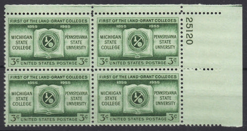 USA Stamps 1955 3c Land Grant Colleges MNH