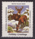 National Wildlife Federation Cinderellas Christmas 1984 White-tailed Deer MNH