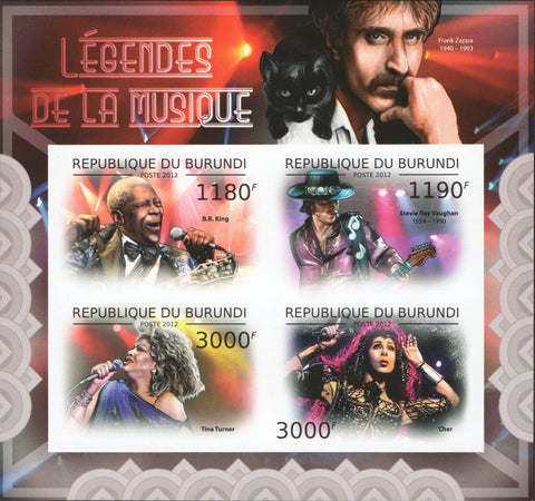 Legends of Music BB King Tina Turner Cher Stevie Ray Vaughan Souv MNH