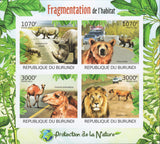 Nature Protection Habitat Fragmentation Imperforated Sov. Sheet of 4 Stamps MNH