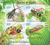 Plants and Insects Nature Imperforated Sov. Sheet of 4 Stamps MNH
