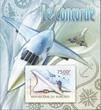 Concorde Airplane Imperforated Souvenir Sheet Mint NH