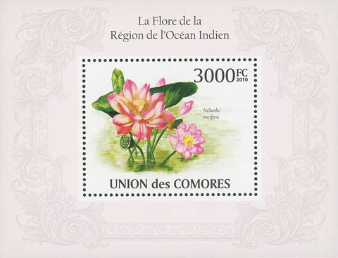 Indian Ocean Flora Flowers Souvenir Sheet Mint NH