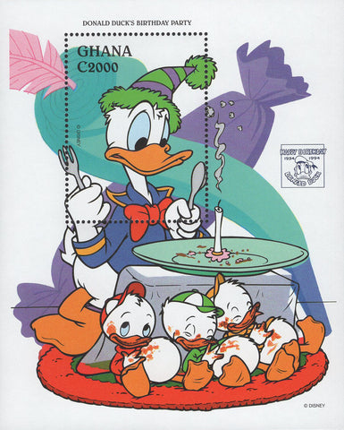Donald's Duck Stamp Disney Birthday Candle Souvenir Sheet Mint NH