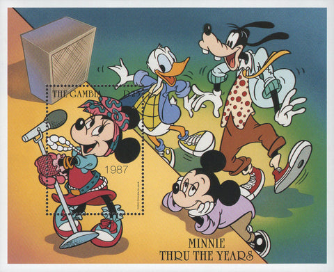Gambia Minnie Thru The Years Disney Souvenir Sheet Mint NH