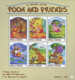 Disney a Year with Pooh & Friends 1 Souv. of 6 stamps Mint NH