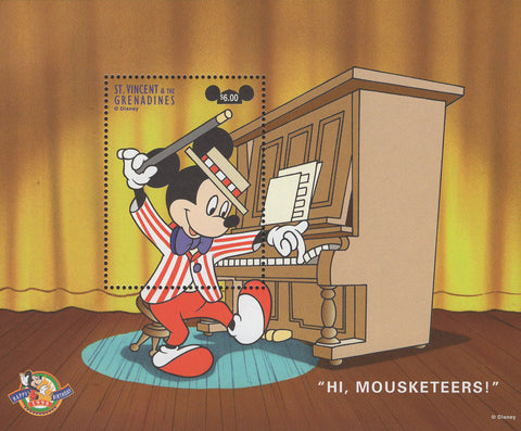 St. Vincent Mickey Mouse Piano Music Disney Souvenior Sheet MNH