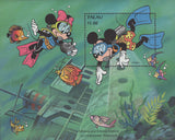 Palau Disney Minnie and Mickey explore an underwater shipwreck Souv. MNH