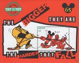 Nevis Disney Pete Mickey Donald Pluto Souv. Sheet MNH