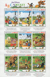 Disney ABC of Mickey 2 I-Q Souv. Sheet of 9 Stamps Mint NH