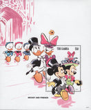 Mickey Friends Wedding Disney Souvenir Sheet Mint NH