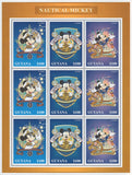 Guyana Nautical Mickey Disney Souvenir Sheet of 9 Stamps MInt NH