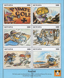 Pirate Gold Pastel Story Boards Souvenir Sheet of 6 Stamps MNH