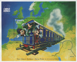 Uganda Orient Express From Paris to Constantinople Mickey Sov. Sheet MNH