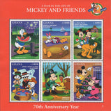 Ghana Mickey And Friends A Year Adventures Souvenir Sheet of 6 Stamps MNH