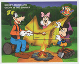 Ghana Mickey Minnie And Goofy In The Summer Souvenir Sheet MNH