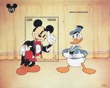 Disney Stamp Mickey Amateues Donald 1937 Souvenir Sheet MNH