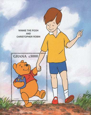 Ghana Winnie The Pooh And Christopher Robin Souvenir Sheet Mint NH