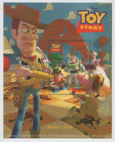 Uganda Toy Story Andy's Toys  Souvenir Sheet Mint NH