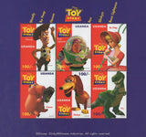 Toy Story Stamp Characters Disney Souvenir sheet of 6 Stamps Mint NH