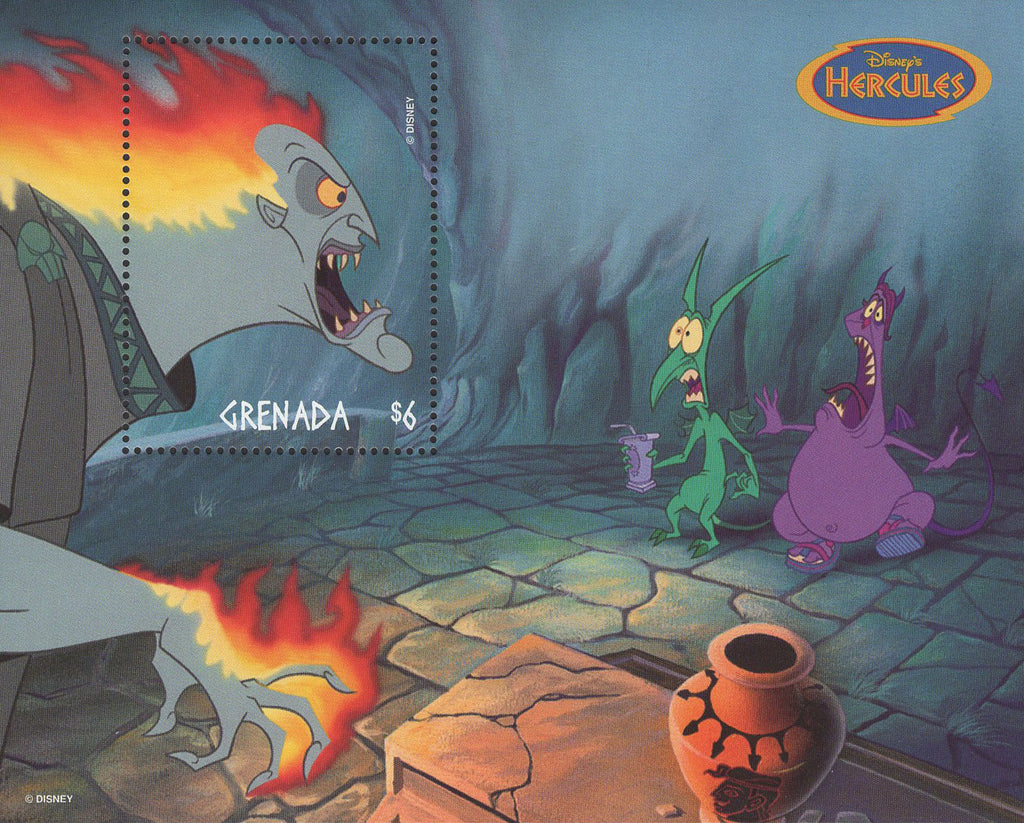 Grenada Disney's Hercules Pain And Panic Hades Souvenir Sheet Mint NH