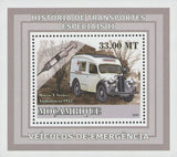 Special Transport History Emergency Morris Ambulance Sov. Sheet Stamp MNH