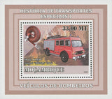 Special Transport History Firefighters Dodge Mini Sov. Sheet MNH
