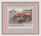 Special Transport History Firefighters Seania Mini Sov. Sheet MNH