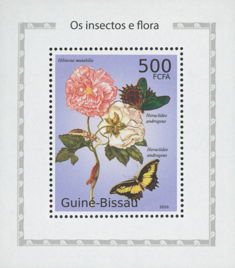 Insects And Flora Papilio Androgeus Mini Sov. Sheet MNH