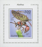 Bees Stamp Polistes Dominula Mini Souvenir Sheet MNH