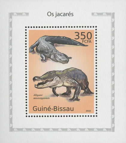 Alligators Stamp Reptile Mississippiensis Reptiles Mini Sov. Sheet MNH