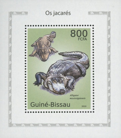 Alligators Stamp Reptile Mississippiensis Reptiles Miniature Sov. Sheet MNH