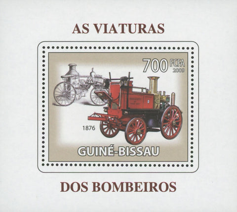 Firemen's Vehicles 1876 Mini Souvenir Sheet MNH