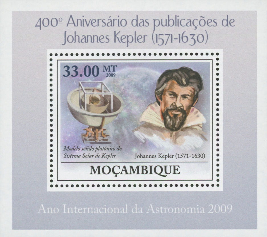 Astronomy Johannes Kepler Publications Mini Sov. Sheet MNH