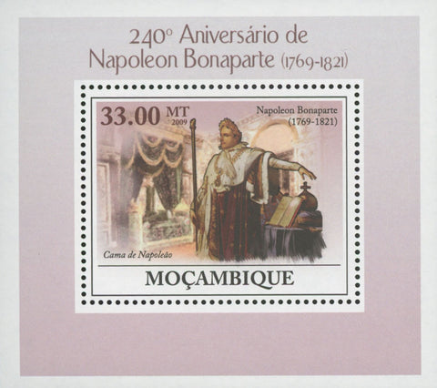 Mozambique Napoleon Bonaparte Bed Mini Sov. Sheet MNH