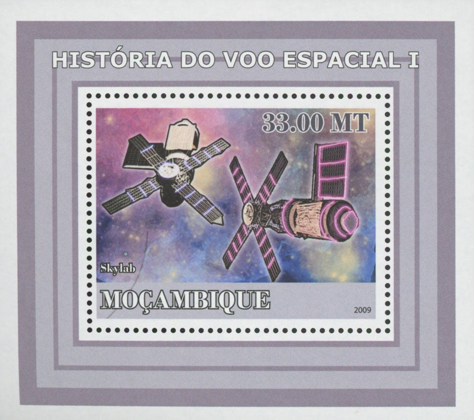 Space Flight Skylab Mini Sov. Sheet MNH