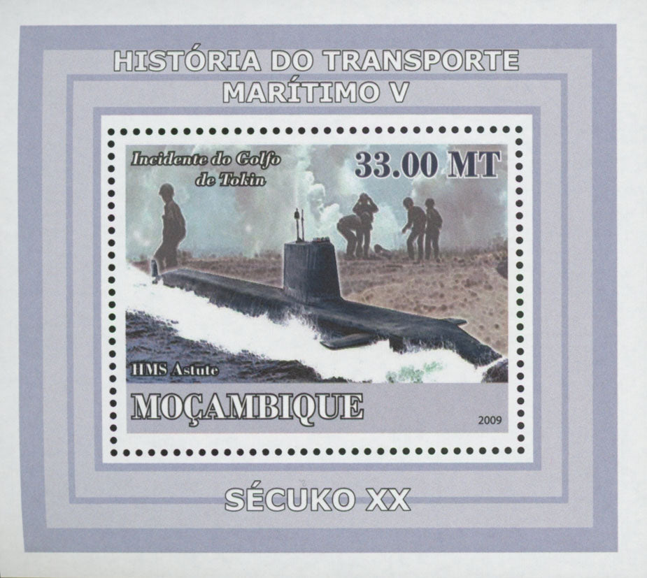 Maritime Transport HMS Astute Mini Sov. Sheet MNH
